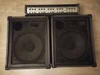Old Carlsbro amp head with 2 X 175W speakers