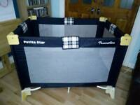 Immaculate Petite Star traveller travel cot