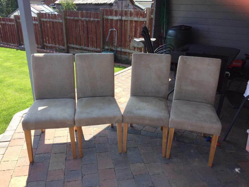 4 Next cream fabric chairs