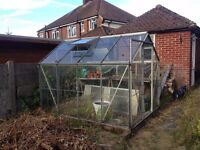 Aluminium Greenhouse 8ft x 6ft - Buyer to Dismantle & Collect!