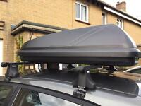 Car roof box and bars