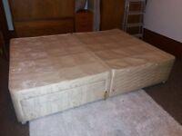 Free double divan bed base