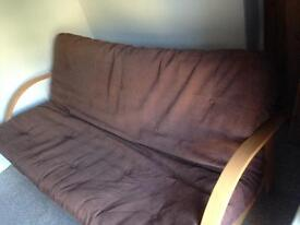Double bed solid wood futon