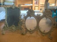 French barn find brass picture frames