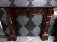Stunning HUGE Oak Finish Shabby Chic Fire Surround Fireplace Wood Delivery