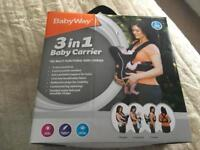 3 in 1 baby carrier from Aldi boxed