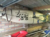 Bic Beebop windsurf board.- and equipment.