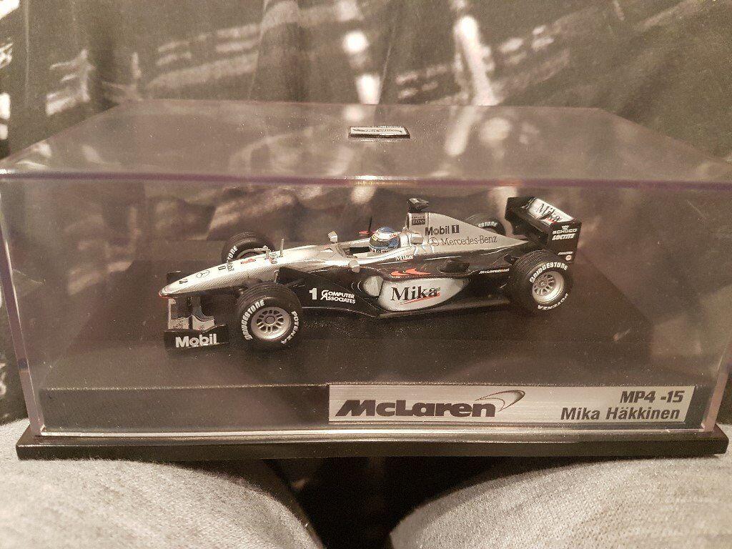 Mika Hakkinen Mclaren Mp4 15 F1 Car By Hot Wheels Rare Diecast