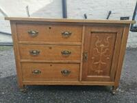 Beautiful Antique Solid Oak Sideboard