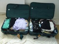 Two suitcases with assorted clothes for an older lady, sizes 12-14