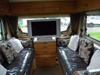 SPRITE QUATTRO DOUBLE AXLE 6 BERTH FIXED BED CARAVAN MARCH 2012