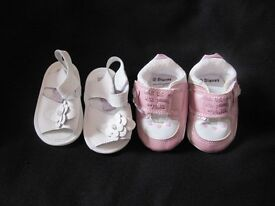0-3 month's cute foot wear sandals and trainer type pram shoes