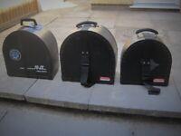 BLACK FIBRE 10,12 & 13 TOM DRUM CASES. £15 EACH (Collection LE27QT)