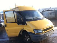 Ford Transit 2.4 diesel high top Parts - bonnet - door - whell -engine - gearbox - axel