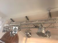 Stage Lighting for Sale 6 Lights with large track - two available