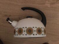 Vintage Austria Email Enamel Whistling Kettle