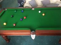 FINE ENGLISH POOL - SNOOKER TABLE SLATE BED