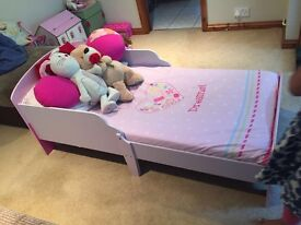 Pink Single Bed For Children - Good Condition and Very Sturdy