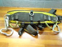Tree climbing gear 2 x Petzl harnesses, ropes, carabiners etc good used condition