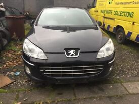 PEUGEOT 407 1.6 HDI 2010 FACELIFT BREAKING FOR PARTS