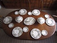 Wedgwood Hathaway rose bone china 46 piece Tea and Dinner service for 6 most unused