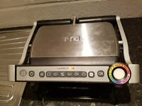 TeFal GC713D40 Stainless Steel OptiGrill + Health Grill Auto Thickness and Temperature Measurement