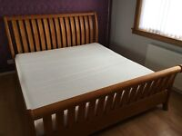 Super King Size Bed Frame & Matching Chest of Drawers with Mirror