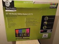 "New 32"" TECHNIKA LED TV full hd ready 1080p, freeview"