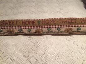 Tapestry style draught excluder