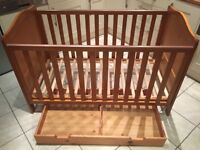 Cot Bed with Extra Drawer Storage (Pine)