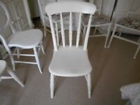 BEDROOM / BATHROOM CHAIR PAINTED COUNTRY WHITE