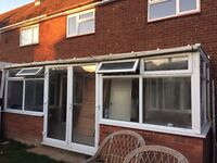 UPVC WHITE CONSERVATORY 5.7 Wide X 2.1 Deep