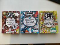 3x Tom Gates Books
