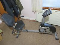 Roger Black Gold Semi recumbent bike complete..