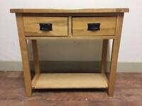 Solid oak consul table (delivery available)
