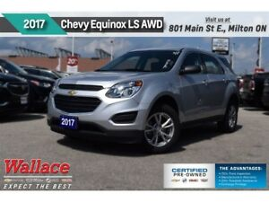 2017 Chevrolet Equinox LS/AWD/REAR CAMRA/7 SCRN/6-SPKR AUDIO