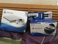 Playstation 4 (sealed)+ PS VR+ move controllers+cam