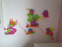 FUN POLLY POCKET ON THE WALL INC. DOLLS AND ACCESSORIES