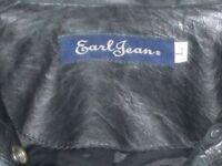 Genuine Designer Earl Jeans Spring Leather jacket BARGAIN at £50, original price £350.