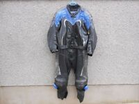 AKITO 2 PIECE MOTORCYCLE LEATHERS - IN GOOD CONDITION
