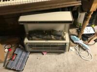 Old piano and heater