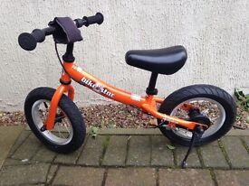 "Balance bike ""bike star"", orange, for boys or girls, fantastic condition"