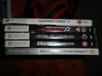 A selection of xbox 360 games