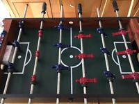 BCE Sports Table Top Football Set - excellent condition, includes 2 mini balls, wooden finish.