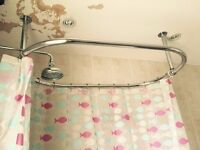 Large oval shaped shower rail