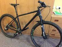 Open carbon fibre mountain bike