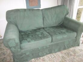 Sofa, green, Laura Ashley, excellent condition