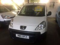 NEW SHAPE PEUGEOT PARTNER VAN 1.6HDI 2011/11REG £3999 NO VAT