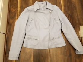 Baby Blue Faux Leatger size 14 Jacket