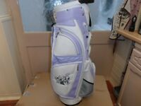 BRAND-NEW, LADIES.- LYNX CART / CARRY BAG, - WHITE / LAVENDER in colour
